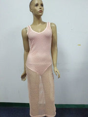 A99975 HOT SEXY HOLLOW OUT NET BEACH DRESS