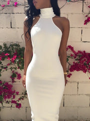 HOT HIGH COLLAR ONE PIECE DRESS