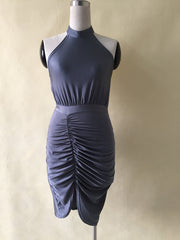 Summer turtleneck irregular pencil dress