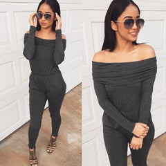 FASHION OFF SHOULDER JUMPSUIT