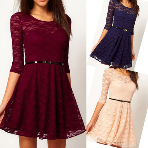 ON SALE FASHION SEXY LACE DRESS