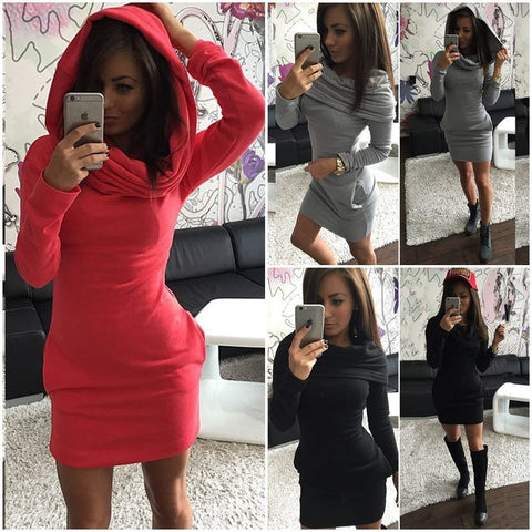 HOT CUTE SWEATER COATS DRESS THREE WAYS WEAR