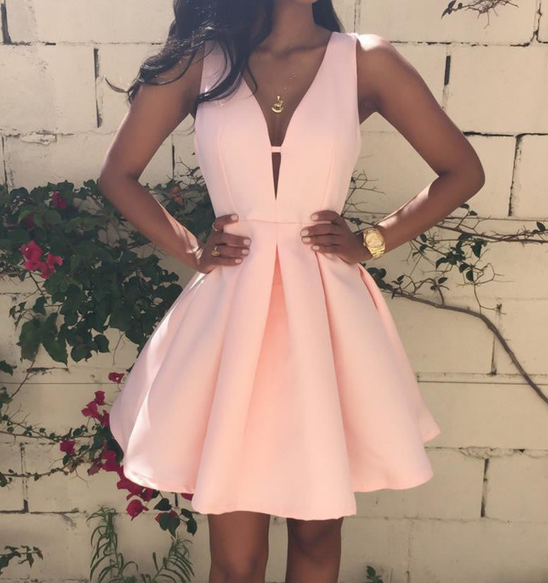 SEXY V SLEEVELESS DRESS
