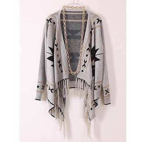 VINTAGE RETRO TESSEL FASHION CARDIGAN HIGH QUALITY