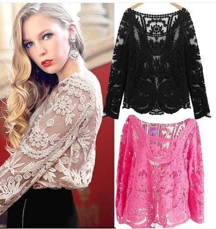 ON SALE CUTE LACE BLOUSE FOR GIRLS