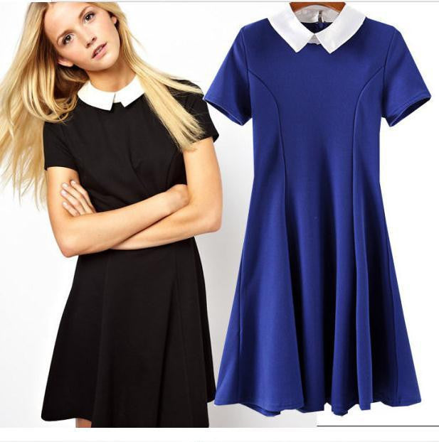 FASHION CUTE FRESH SHOW BODY SHORT SLEEVE DRESS
