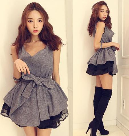 CUTE FASHION HOT BOW DRESS