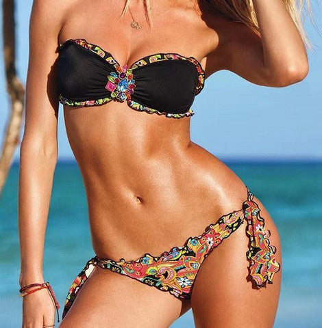FASHION CUTE HOT RHINESTONE BIKINI