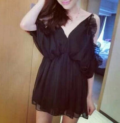 CUTE FASHION LOTUS DRESS