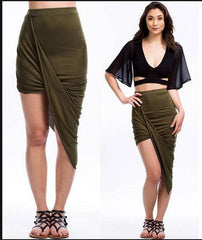 A99946 MULTICOLOR HIGH ELASTIC WAIST BELLY IN SKIRTS
