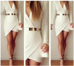 HOT CUTE V SEXY DRESS NO BELT HIGH QUALITY