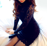 FASHION SEXY BLACK LACE DRESS