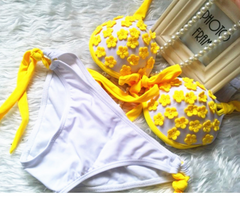 HOT FRESH YELLOW FLOWER BIKINI