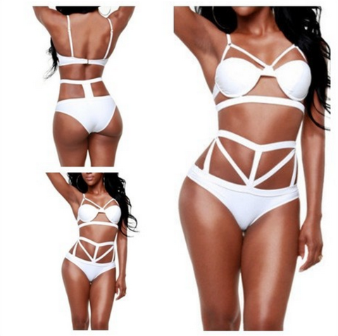 FASHION SEXY HOLLOW OUT HIGH WAIST BIKINI