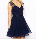 CUTE LACE BLUE DRESS