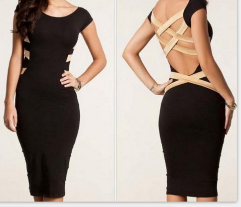 ON SALE CUTE BACKLESS SEXY DRESS