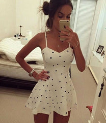ON SALE DOTS STRAPE SEXY DRESS