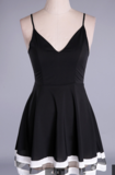 ON SALE WOMEN'S SHEER V-NECK CONDOLE BELT SPLICING DRESS