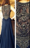 FULL RHINESTONE TOTEM LONG DRESS WEDDING PARTY DRESS HOMECOMING