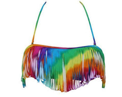 COLOR TASSEL HANGING NECK SEXY BEACH FISSION SWIMSUIT