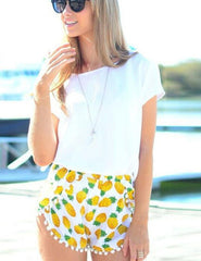 ON SALE CUTE TASSEL HOT SHORTS YELLOW
