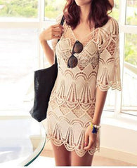 CUTE FRESH NET LACE DRESS