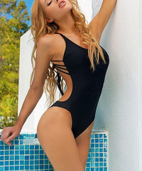 MS BACK SEXY LINE, ONE-PIECE SWIMSUIT