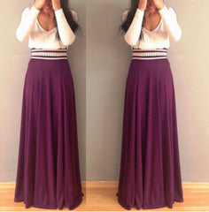 TALL WAIST PURPLE SEXY SKIRTS