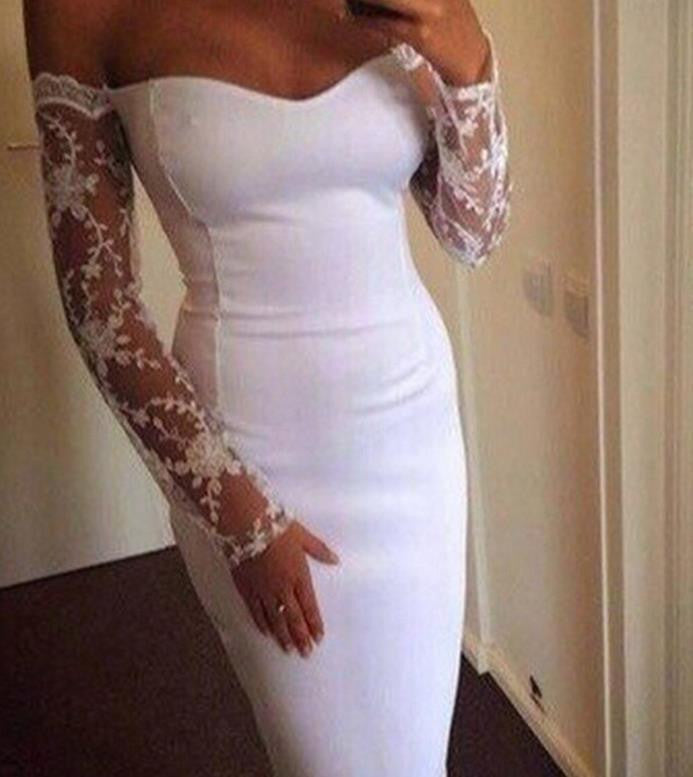 HOT ONE PIECE LACE SHOW BODY DESIGN DRESS