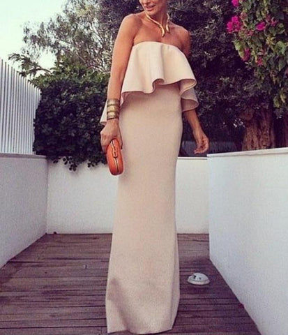 HOT STRAPLESS LONG DRESS