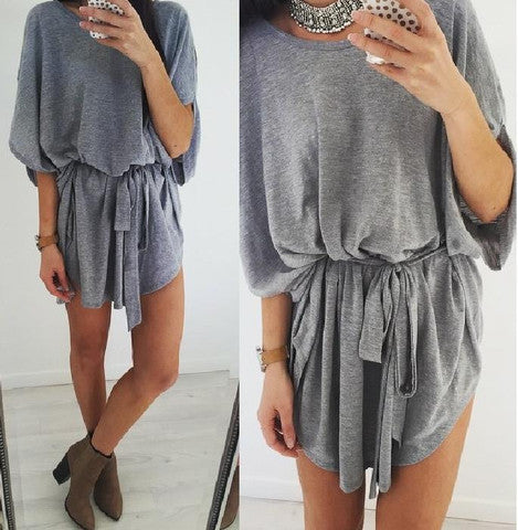 HOT LOOSE GREY CUTE DRESS