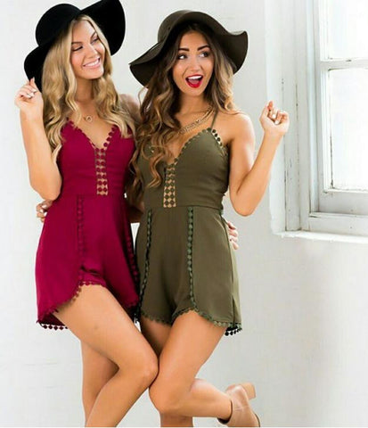 HOT LACE ROMPER JUMPSUIT
