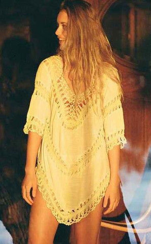 HOT WOVEN TOP BEACH DRESS