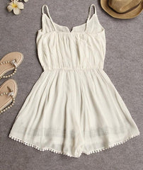 CUTE SEXY EMBROIDERY CHIFFON ROMPER JUMPSUIT