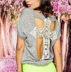 CUTE HOT FASHION CROSS TOP