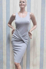 HOT GREY VEST DRESS