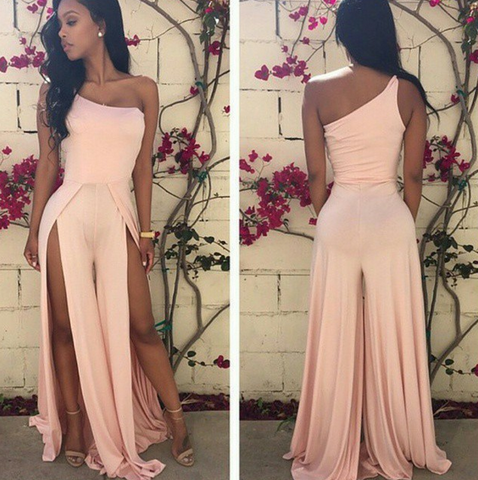 CUTE DESIGN FORK SEXY JUMPSUIT