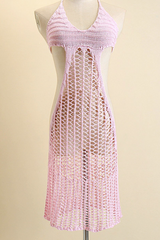 CUTE HOLLOW OUT WOVEN DRESS