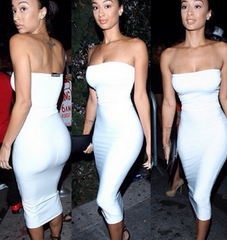 HOT WHITE STRAPLESS DRESS
