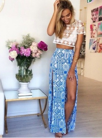 CUTE TOTEM LONG SKIRT
