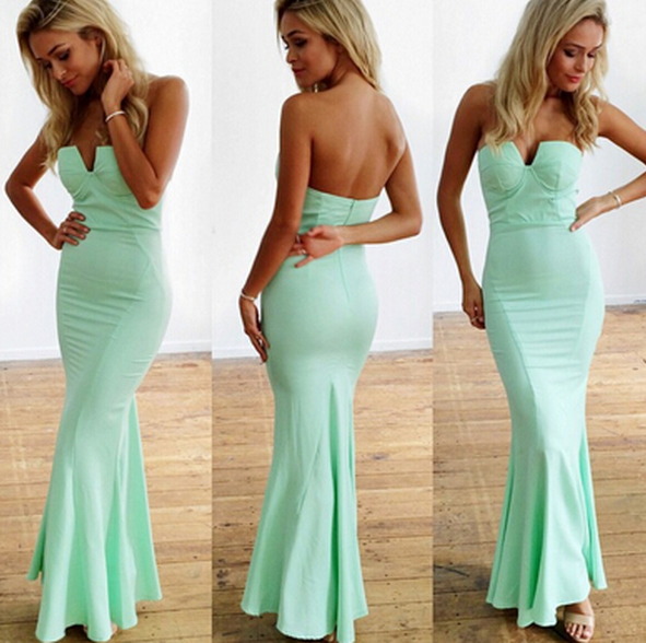 HOT CUTE STRAPLESS DRESS HIGH QUALITY