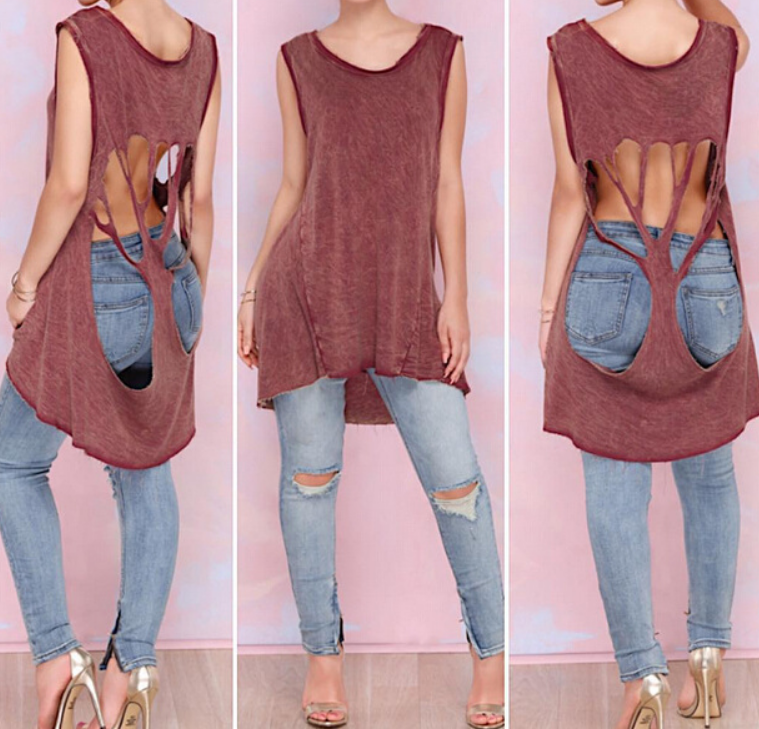 HOT CUTE LONG HOLLOW OUT TOP