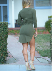 CUTE IRREGULAR LONG SLEEVE DRESS