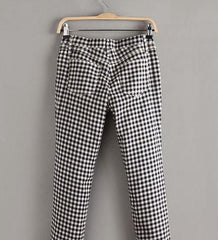 HIGH QUALITY CONTRACTED JOKER GRATING FEET PANTS OF CULTIVATE ONE'S MORALITY LEISURE TROUSERS