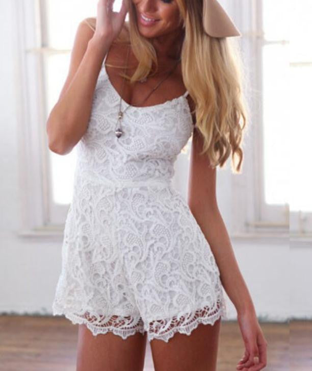 HOT LACE STRAP JUMPSUIT HIGH QUALITY