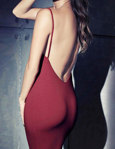 Cute backless sexy dress