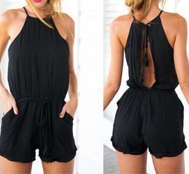 CUTE BLACK WHITE ROMPER JUMPSUIT