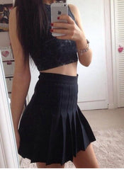 Hot white black dark blue cute deisgn skirt