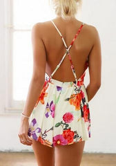Hot floral high quality jumpsuit romper