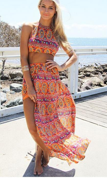 Cute totem two piece dress